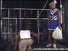 Großer schwarzer Schwanz Cheerleader