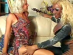 Wild Threesome With Titty Blonde Tranny by TROC