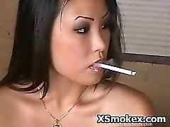 Ebenholz Mädchen Rauchen Sex