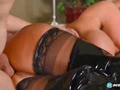 Naughty Mother Sally D`Angelo Gives Blowjob Hot Her Step son