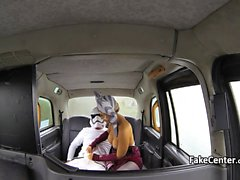 Masked gal Fucking taxi driver