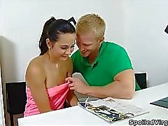 Lora is a young virgin and with her man having the doctor come over will be inspected as a virgin
