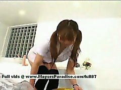 Yuri Haruna innocent cute chinese maid who likes getting her pussy drilled hard