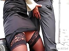 Outdoor blowjob kelju babe