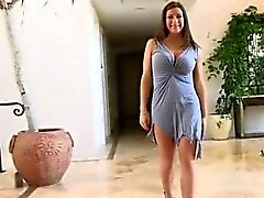 Hot brunette milf gets horny taking her part3