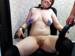 Amateur BBW sucks POV black cock