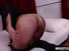 Hairy gay anal sex with swallow