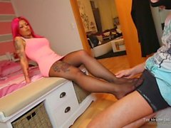Mia footslave footjob