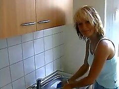 European housewife gets fucked at home