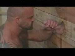 Massive Musclebear Has Fun With Gloryhole gay porn gays gay cumshots swallo