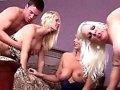 Turned on cougars slit drilled in gangbang