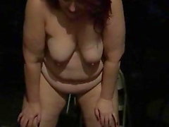 Fat Fuck Pig Pissing Outside Naked Like a Sow Should