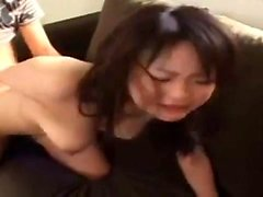 Busty asiatiska amatör brud knullad och facialized i POV