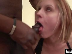 black cock drills her hairy pussy segment